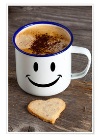 Premiumposter Cup with smiley face