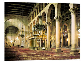 Akrylglastavla  The Umayyad Mosque in Damascus