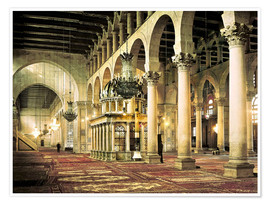 Premiumposter  The Umayyad Mosque in Damascus
