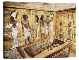 Canvastavla  Grave of Tutankhamun in the Valley of the Kings