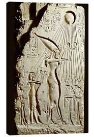 Canvastavla  Pharaoh Akhenaten pays homage to the sun god Aten