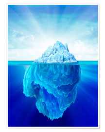 Premiumposter  Solitary iceberg in the sea. - Leonello Calvetti