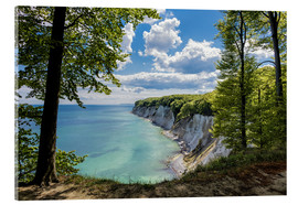 Akrylglastavla  Chalk cliff on the island Ruegen, Germany - Rico Ködder