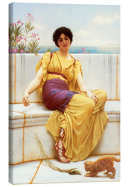 Canvastavla  Idleness - John William Godward