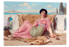 Akrylglastavla  A Quiet Pet - John William Godward