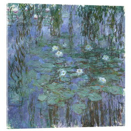 Akrylglastavla  Blue Water Lilies - Claude Monet