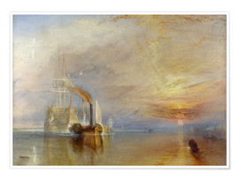 Premiumposter  The fighting Temeraire - Joseph Mallord William Turner