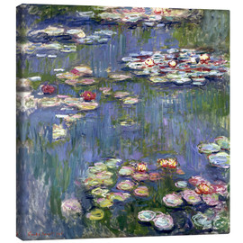 Canvastavla  Water lilies - Claude Monet