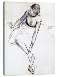 Canvastavla  Dancer Adjusting Her Slipper - Edgar Degas