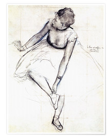 Premiumposter  Dancer Adjusting Her Slipper - Edgar Degas