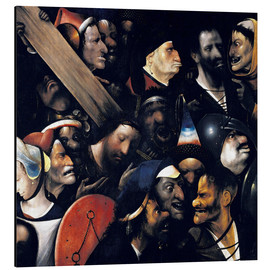 Aluminiumtavla  Christ carrying the cross - Hieronymus Bosch