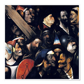 Premiumposter Christ carrying the cross