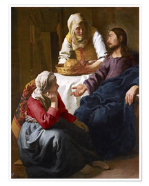 Premiumposter  Christ in the house of Martha and Mary - Jan Vermeer