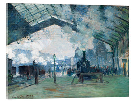 Akrylglastavla  Saint Lazare Train Station: the train from Normandy - Claude Monet