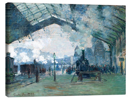 Canvastavla  Saint Lazare Train Station: the train from Normandy - Claude Monet