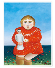 Premiumposter  The girl with a doll - Henri Rousseau