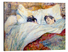 Aluminiumtavla  The Bed - Henri de Toulouse-Lautrec