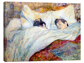 Canvastavla  The Bed - Henri de Toulouse-Lautrec