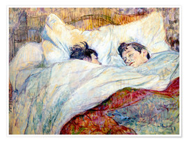 Premiumposter  The Bed - Henri de Toulouse-Lautrec