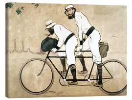 Canvastavla  Ramon Casas and Pere Romeu on a Tandem - Ramon Casas i Carbo