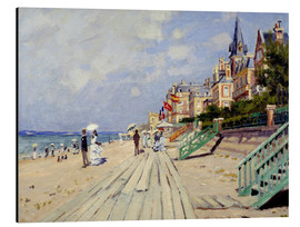 Aluminiumtavla  The beach at Trouville - Claude Monet