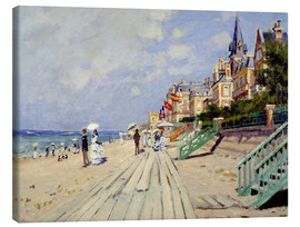Canvastavla  The beach at Trouville - Claude Monet