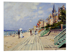 PVC-tavla  The beach at Trouville - Claude Monet