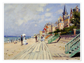 Premiumposter  The beach at Trouville - Claude Monet