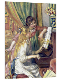 PVC-tavla  Girls at the Piano - Pierre-Auguste Renoir