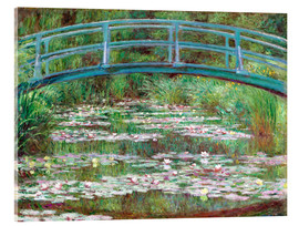 Akrylglastavla  Waterlily pond - Claude Monet