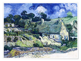 Premiumposter Thatched cottages at Cordeville