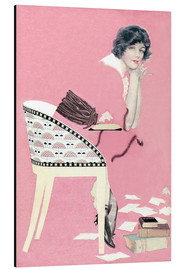 Aluminiumtavla  pink books - Clarence Coles Phillips