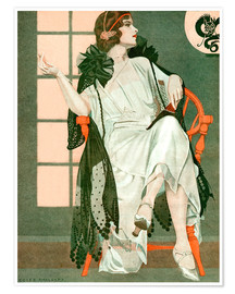 Premiumposter  Lady writing - Clarence Coles Phillips