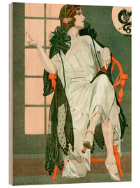 Trätavla  Lady writing - Clarence Coles Phillips