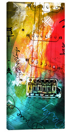 Canvastavla  guitar music colorful collage rock n roll - Michael artefacti