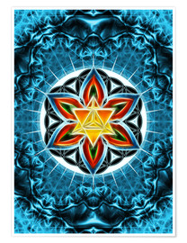 Premiumposter Merkaba, Flower of Life, Sacred Geometry