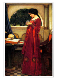 Poster  The crystal ball - John William Waterhouse
