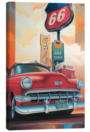 Canvastavla  Route 66 Cafe - Georg Huber