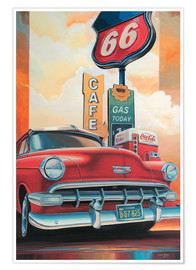 Premiumposter  Route 66 Cafe - Georg Huber