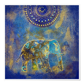Premiumposter Blue Elephant