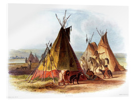 Akrylglastavla  Camp of Native Americans - Karl Bodmer