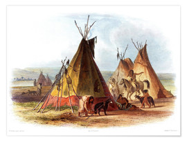 Premiumposter  Camp of Native Americans - Karl Bodmer