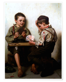 Premiumposter  Bluffing - John George Brown
