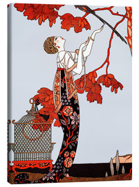 Canvastavla  Exotisk Art Deco - Georges Barbier