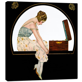 Canvastavla  The music of women - Clarence Coles Phillips