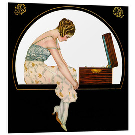 PVC-tavla  The music of women - Clarence Coles Phillips