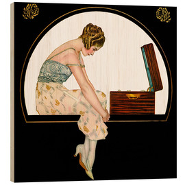 Trätavla  The music of women - Clarence Coles Phillips