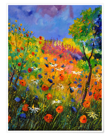 Premiumposter  Meadow with wildflowers - Pol Ledent