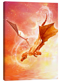 Canvastavla  Dragon Flight - Dolphins DreamDesign