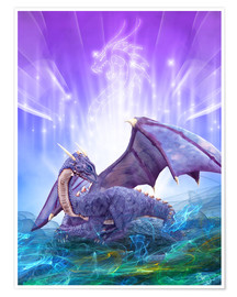 Premiumposter  Dragon Energy - Dolphins DreamDesign